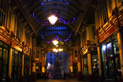 Christmas tree at Leadenhall Market, London