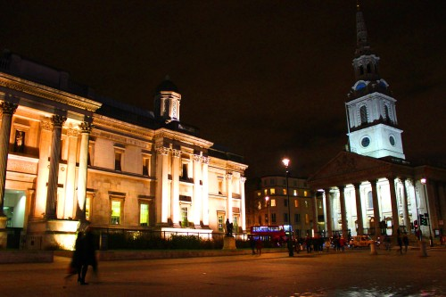 St Martin in the Fields at Trafalgar Square, London