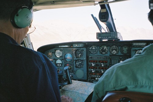 pilot with map