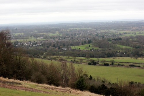 View from Box Hill over the North Downs
