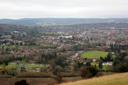 View from Box Hill over Dorking