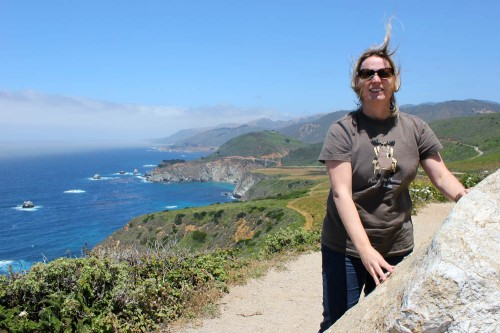 At Big Sur on a windy day or maybe it's always windy at Hurricane Point?