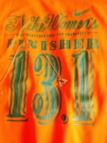 Finisher t-shirt and Tiffany's necklace
